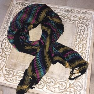 URBAN OUTFITTERS Metallic detail colorful scarf